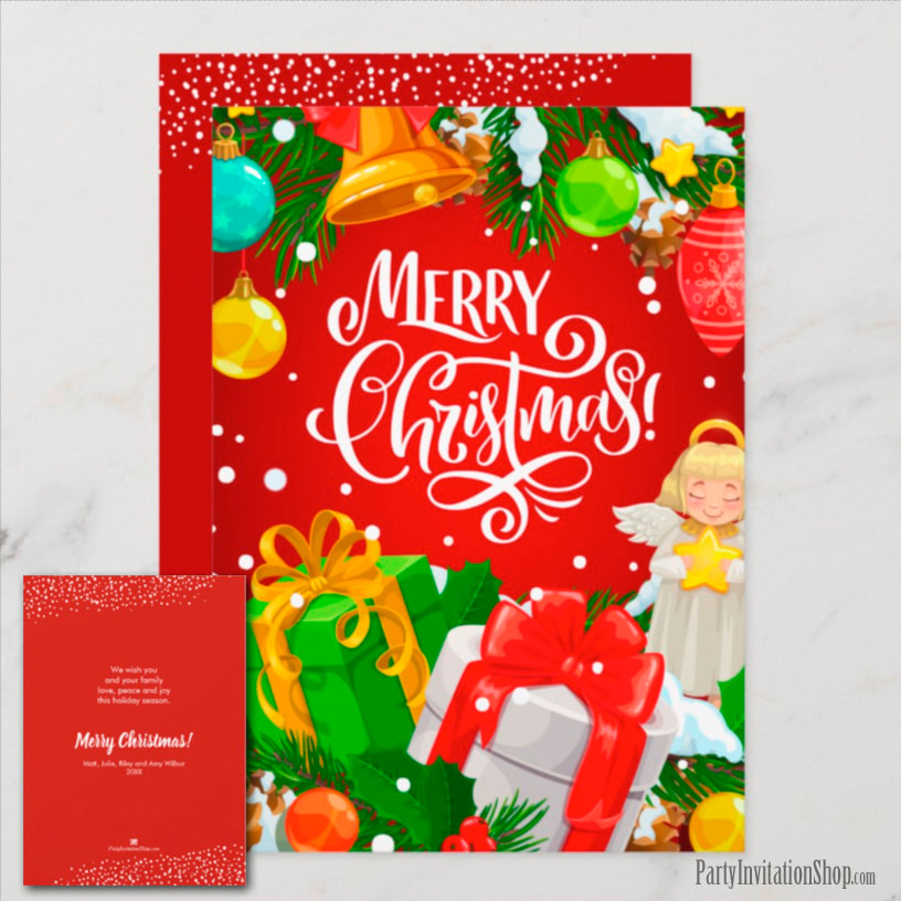 Angel Merry Christmas Holiday Greeting Cards