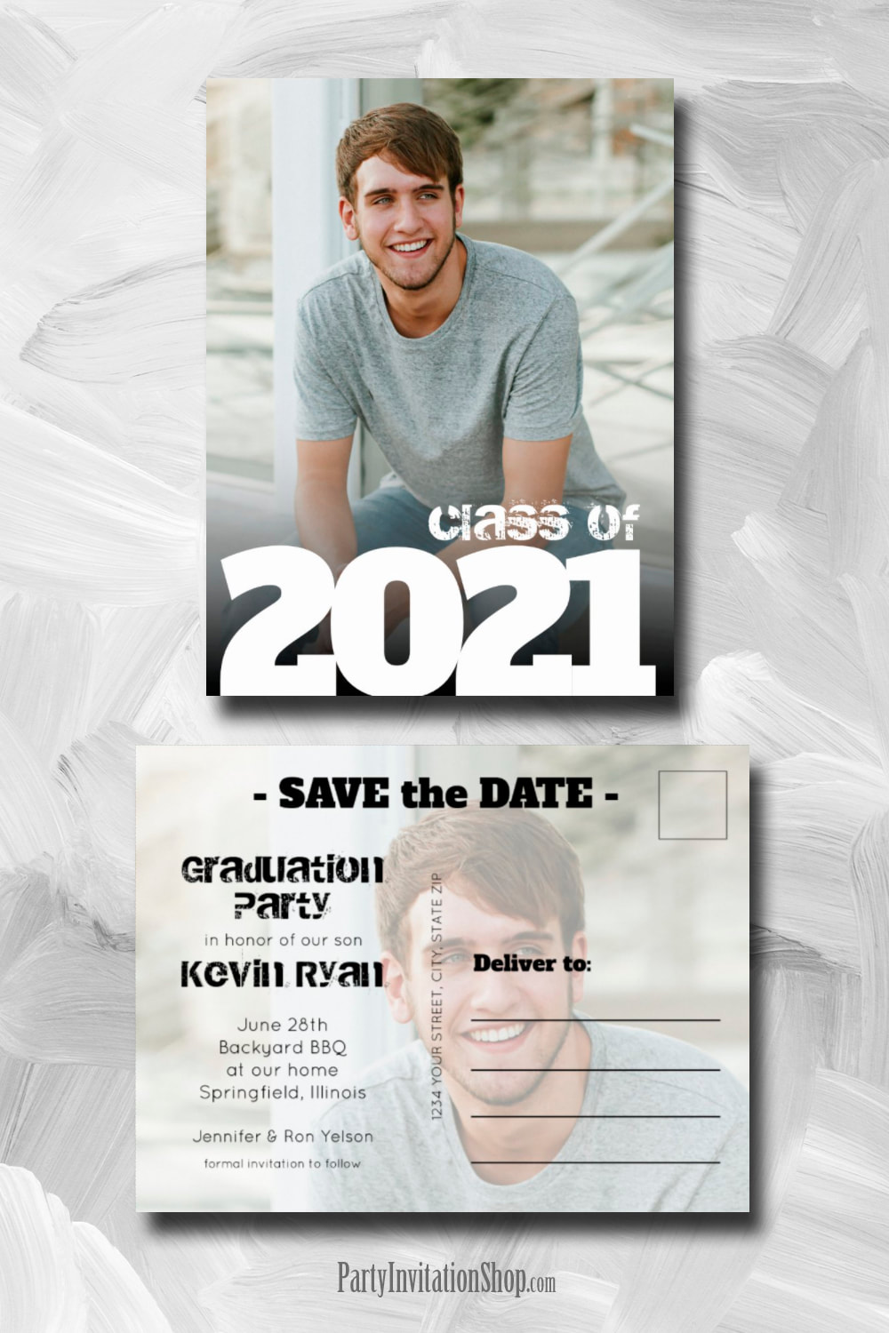 Vertical Photo Graduation Save the Date Postcard