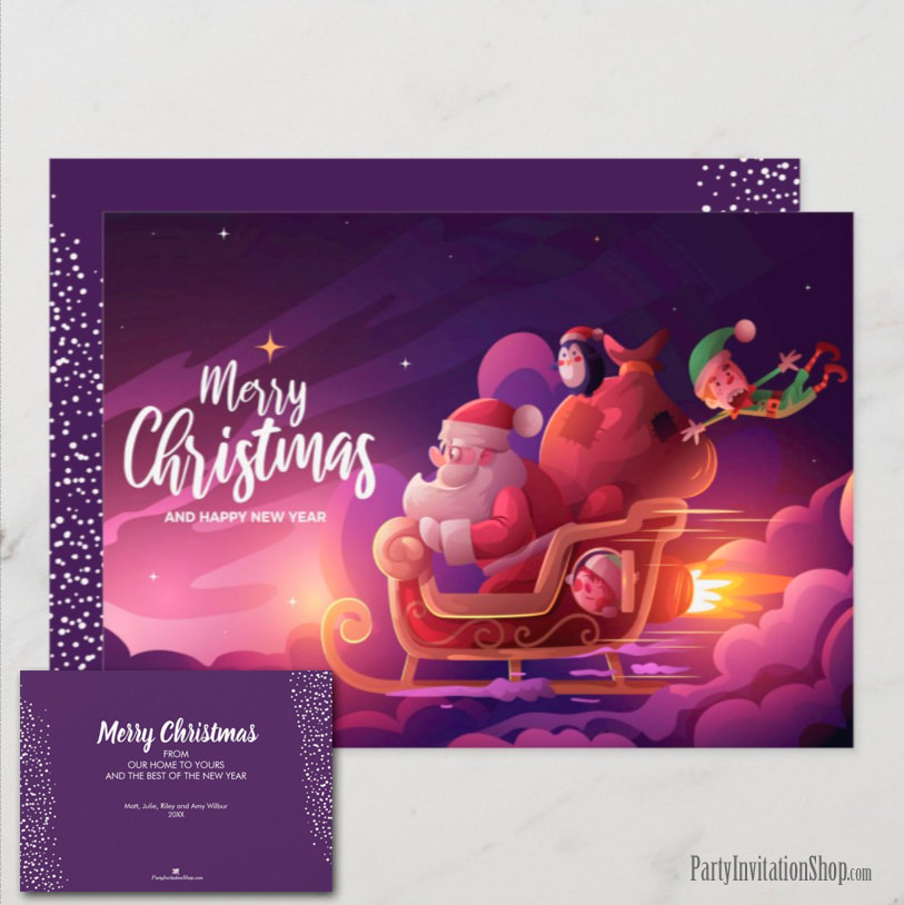 Santa Claus Christmas Holiday Greeting Cards