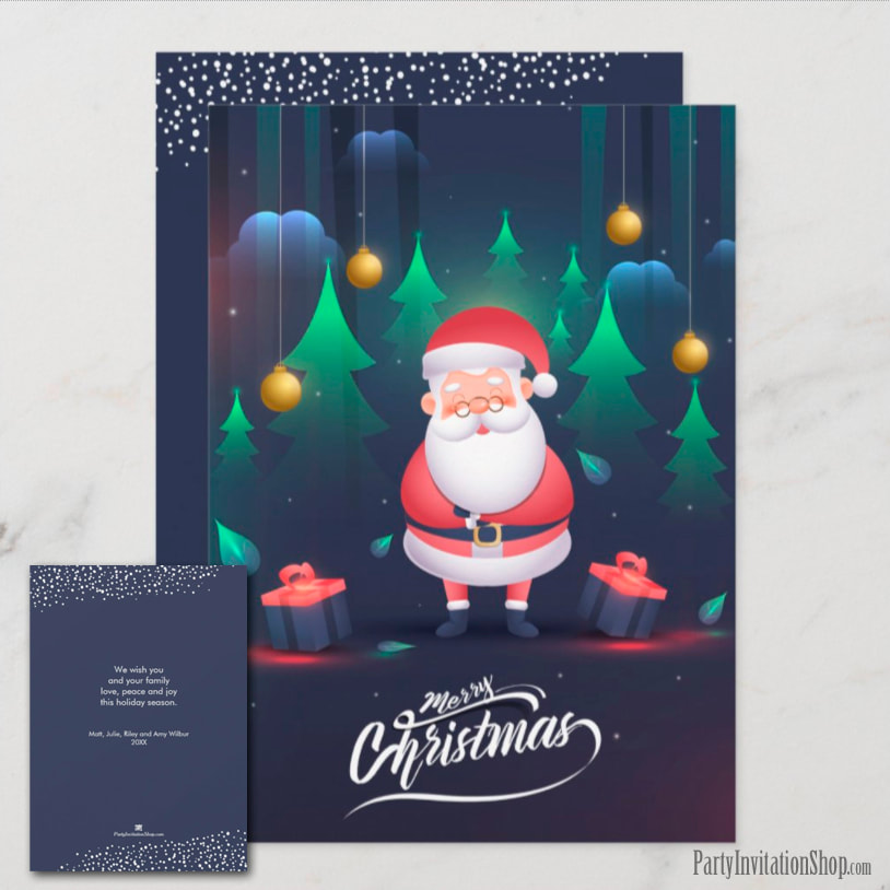 Santa Claus Christmas Holiday Greeting Card
