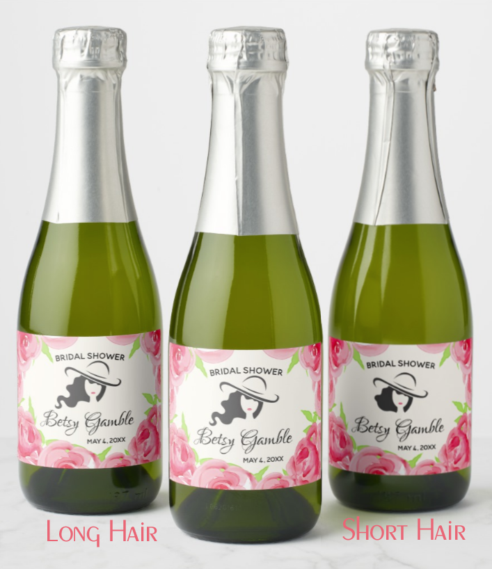 Lady's Hat and Roses Kentucky Derby personalized Mini Champagne labels, party favor boxes and party supplies in several designs. PartyInvitationShop.com