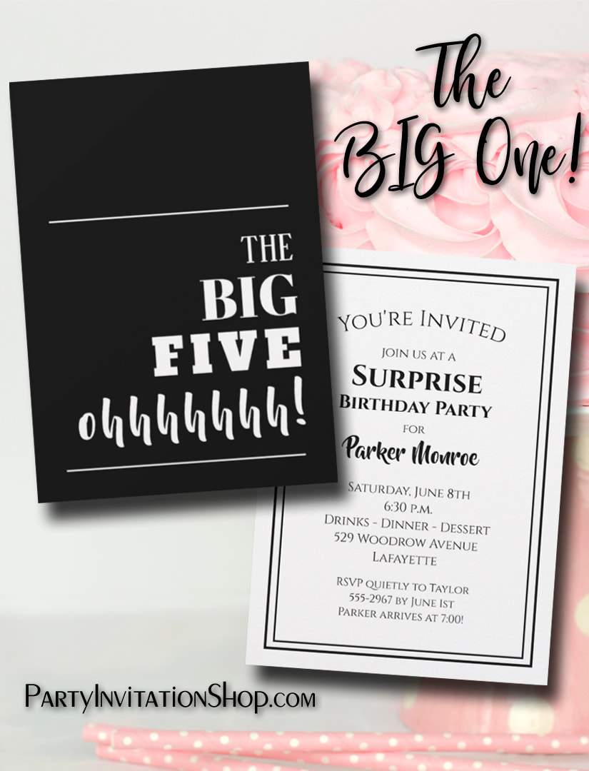 Throwing a milestone birthday party? Be sure to send an invitation that will get guests excited for your party.